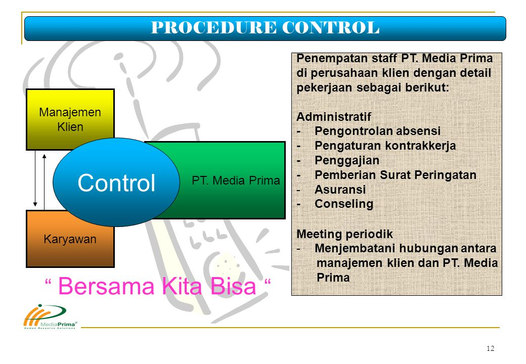 Control PROCEDURE CONTROL Penempatan staff PT. Media Prima