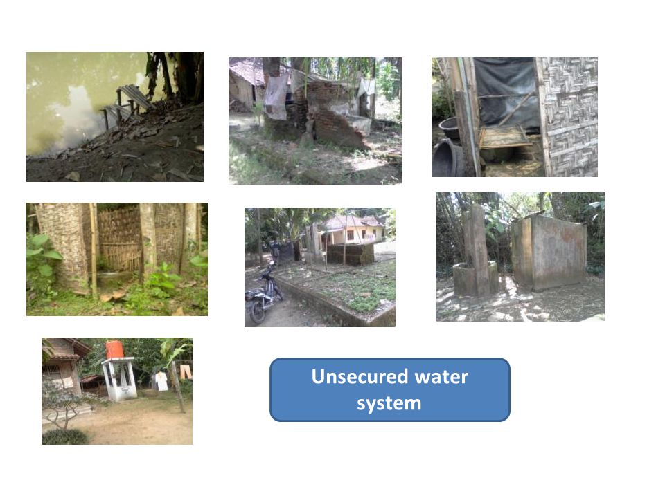 Unsecured water system