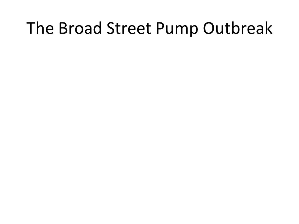 The Broad Street Pump Outbreak