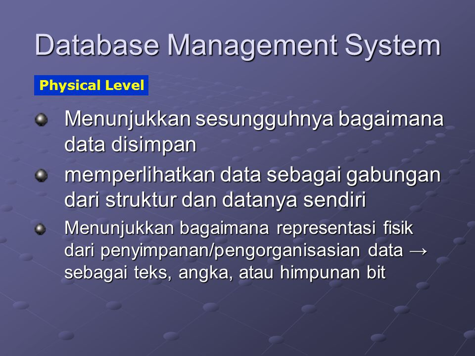 Database Management System