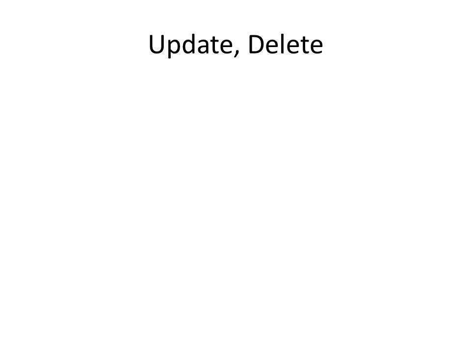 Update, Delete