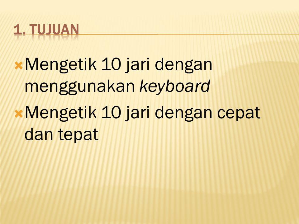 Mengetik 10 jari dengan menggunakan keyboard