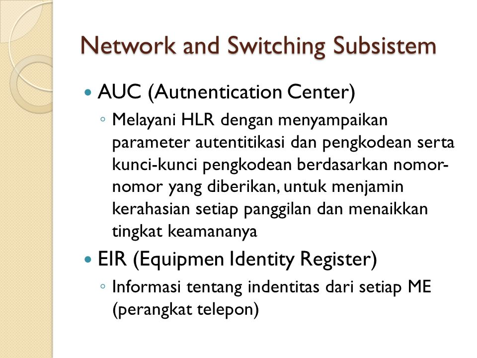 Network and Switching Subsistem