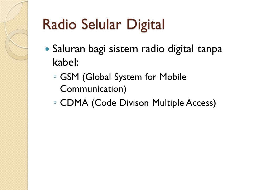 Radio Selular Digital Saluran bagi sistem radio digital tanpa kabel: