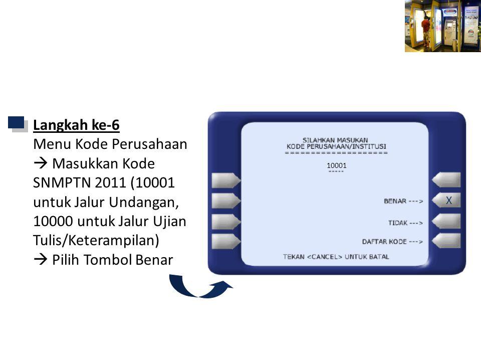 Mandiri ATM Langkah ke-6