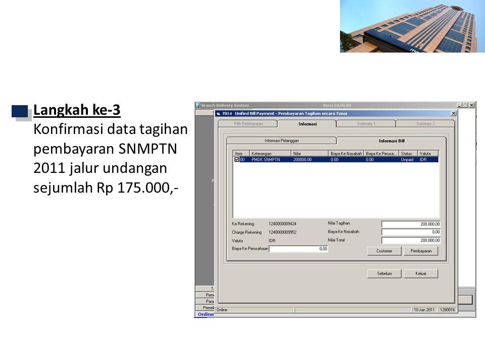 Petunjuk Transaksi via BDS - Cabang