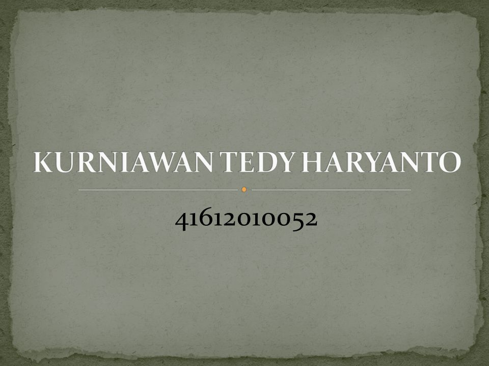 KURNIAWAN TEDY HARYANTO
