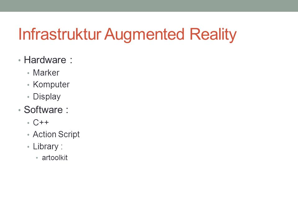 Infrastruktur Augmented Reality