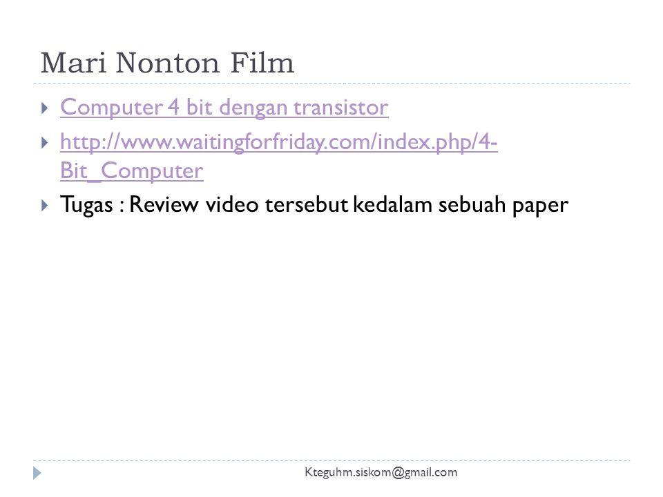 Mari Nonton Film Computer 4 bit dengan transistor