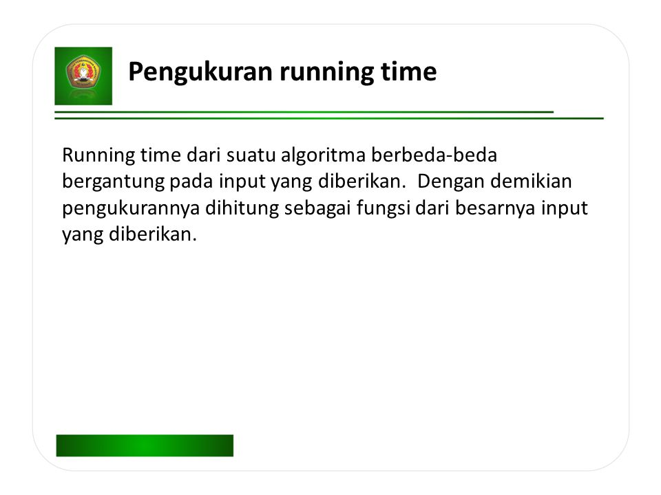 Pengukuran running time
