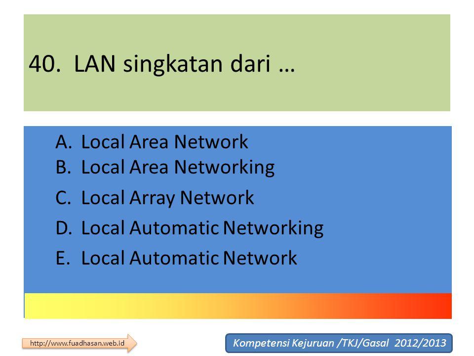 40. LAN singkatan dari …