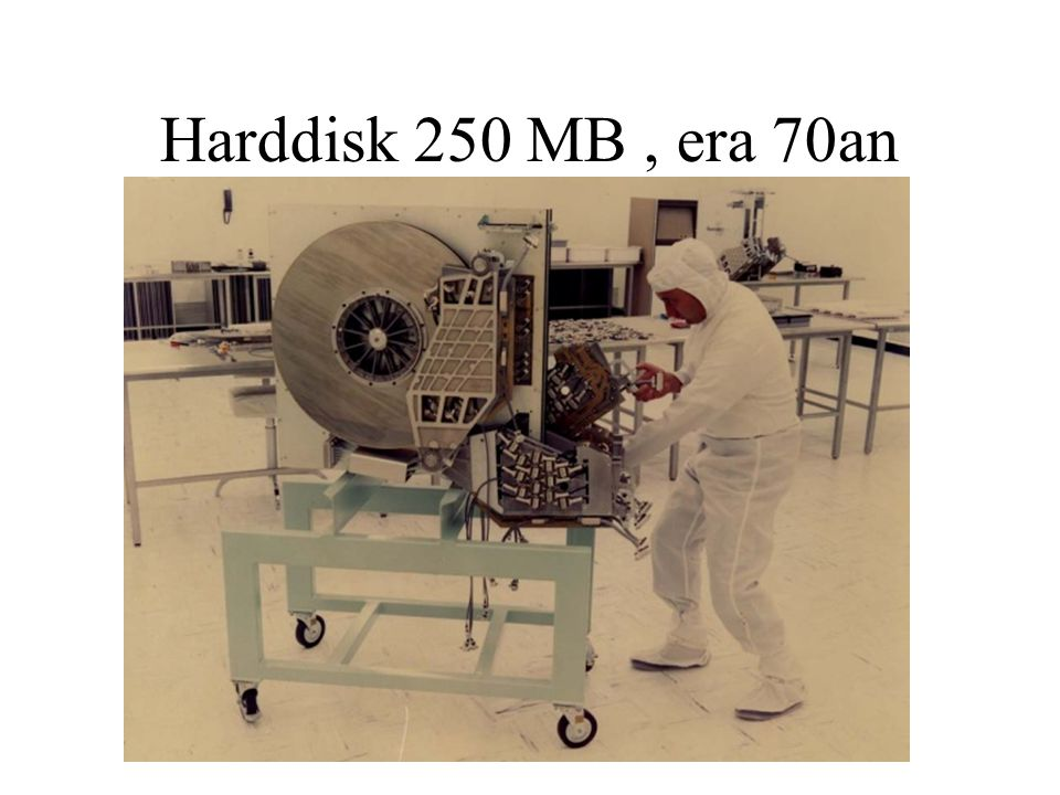 Harddisk 250 MB , era 70an