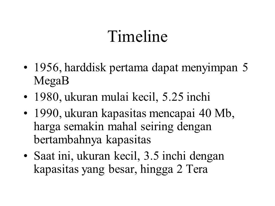 Timeline 1956, harddisk pertama dapat menyimpan 5 MegaB