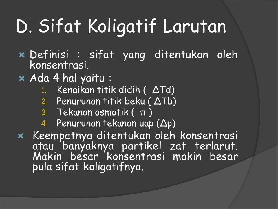 D. Sifat Koligatif Larutan