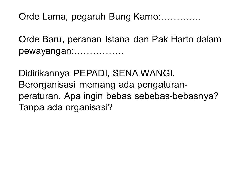 Orde Lama, pegaruh Bung Karno:………….