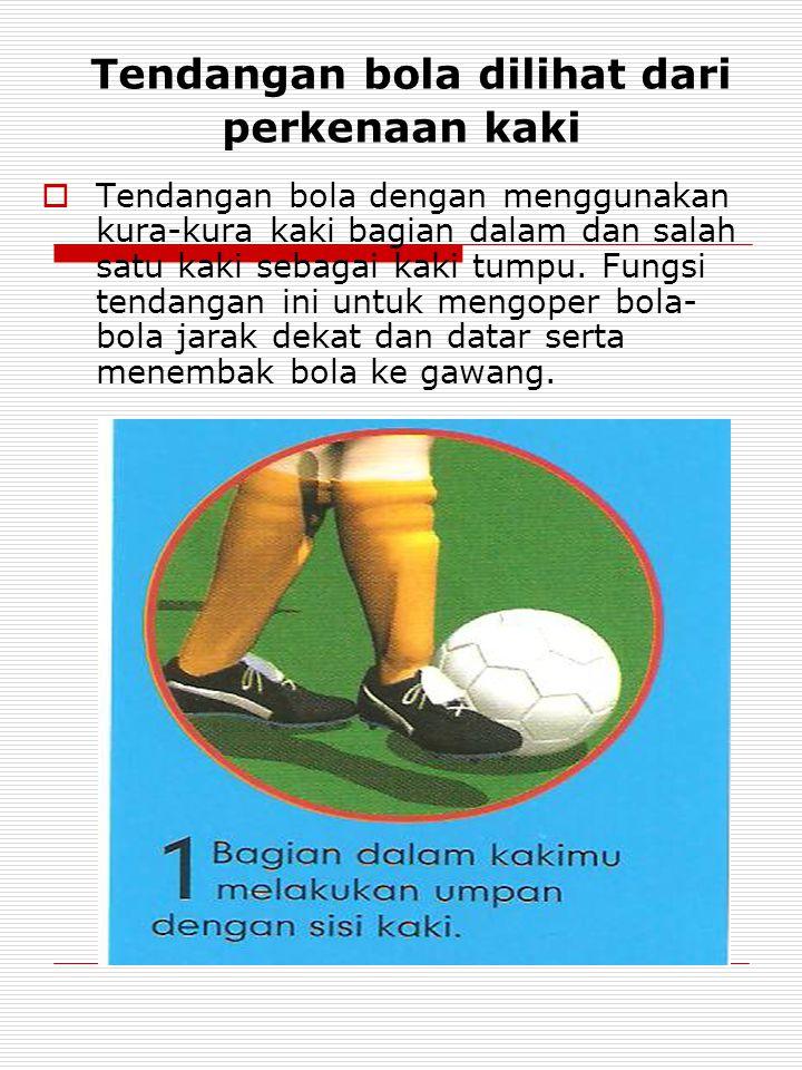 Tendangan bola dilihat dari perkenaan kaki