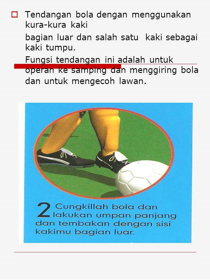 Tendangan bola dengan menggunakan kura-kura kaki