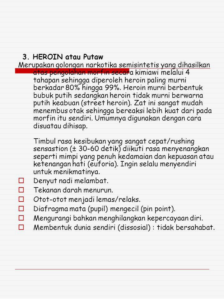 3. HEROIN atau Putaw