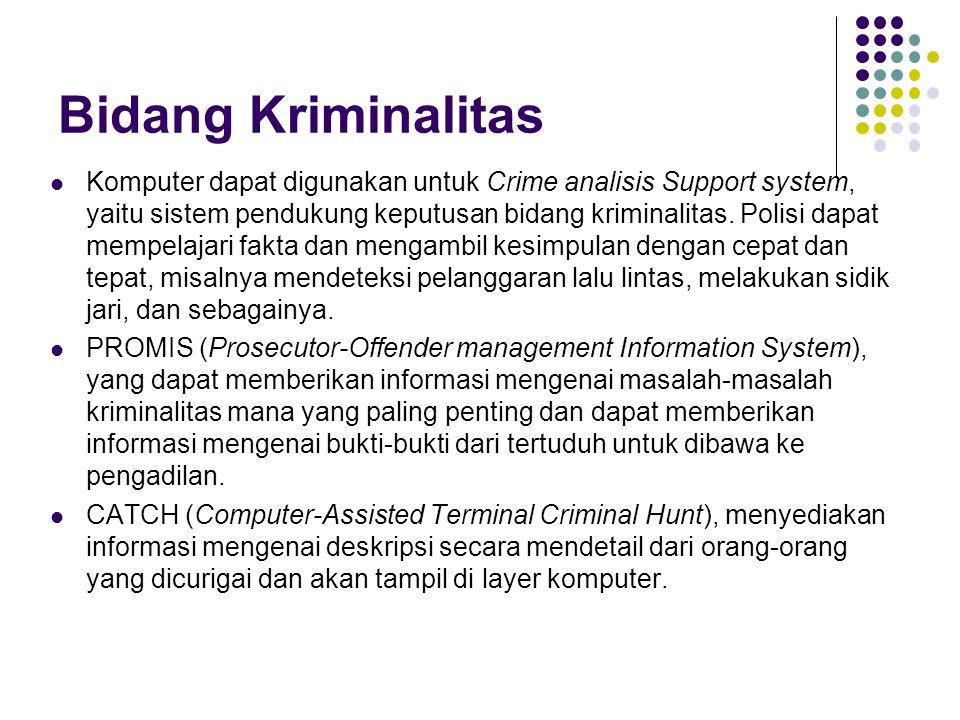 Bidang Kriminalitas