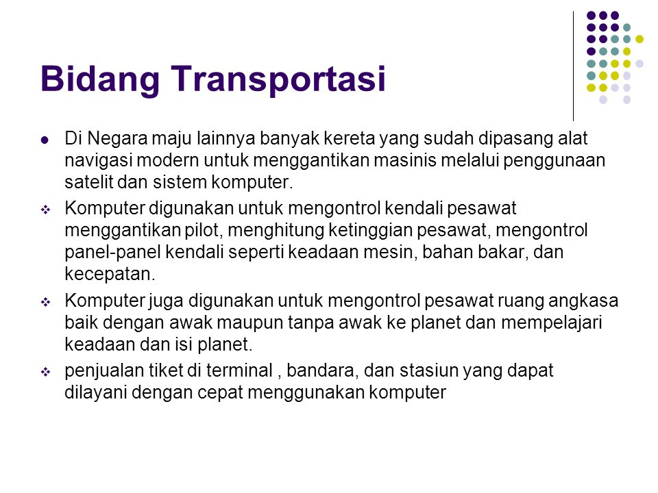Bidang Transportasi