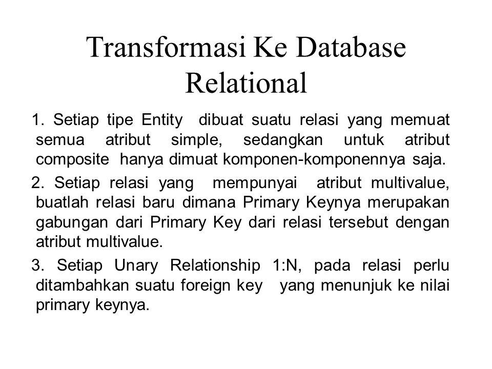 Transformasi Ke Database Relational