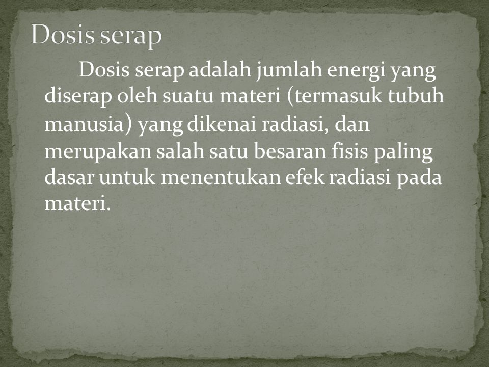 Dosis serap