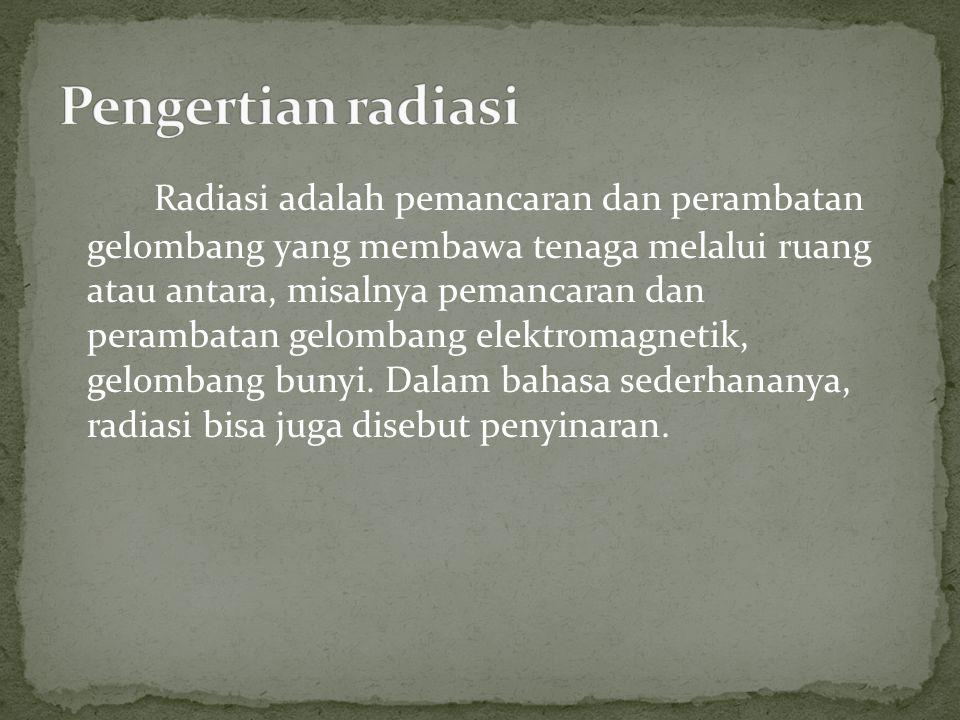 Pengertian radiasi