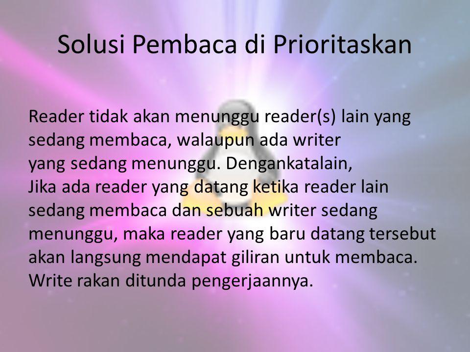 Solusi Pembaca di Prioritaskan