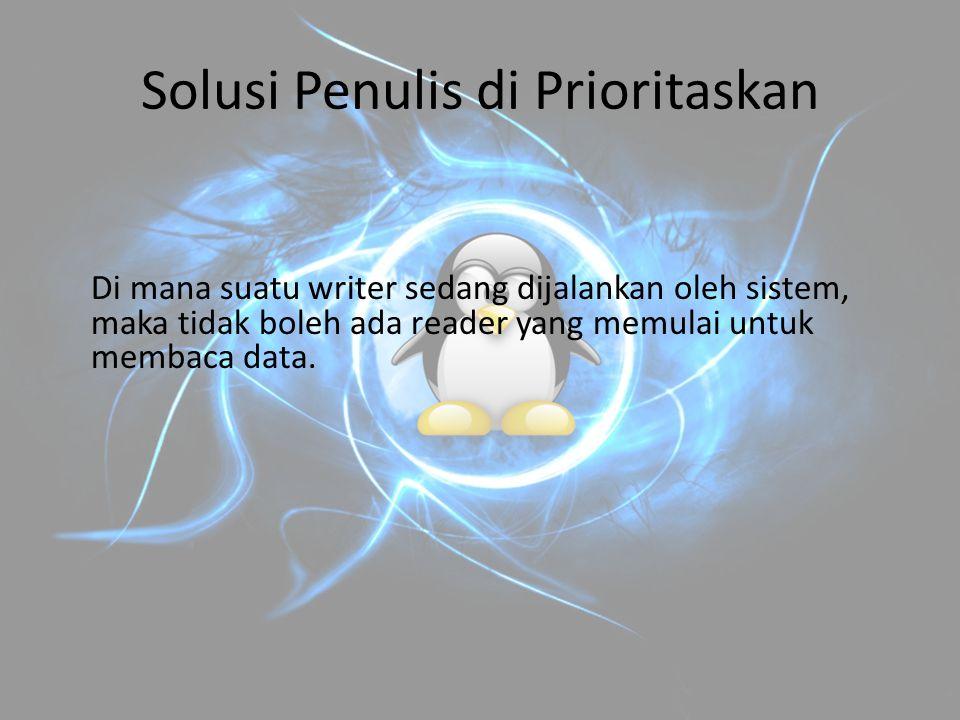 Solusi Penulis di Prioritaskan