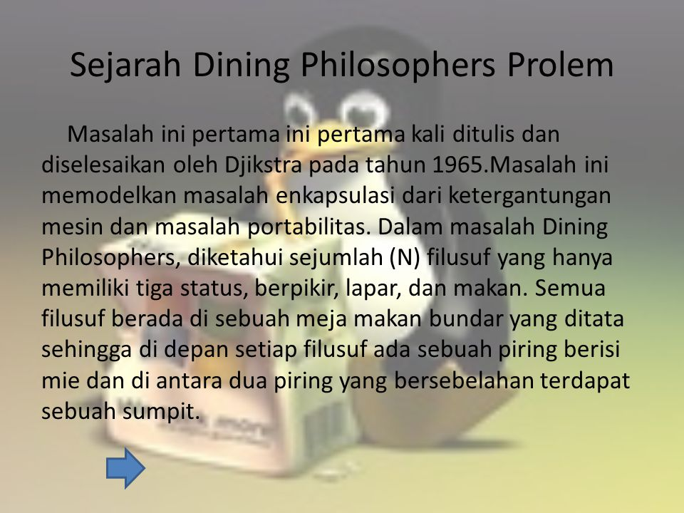 Sejarah Dining Philosophers Prolem