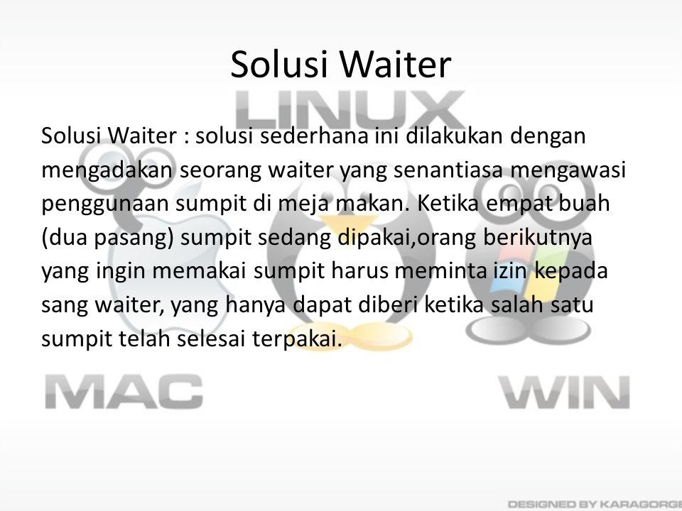 Solusi Waiter