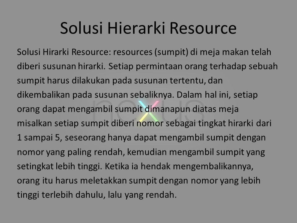Solusi Hierarki Resource