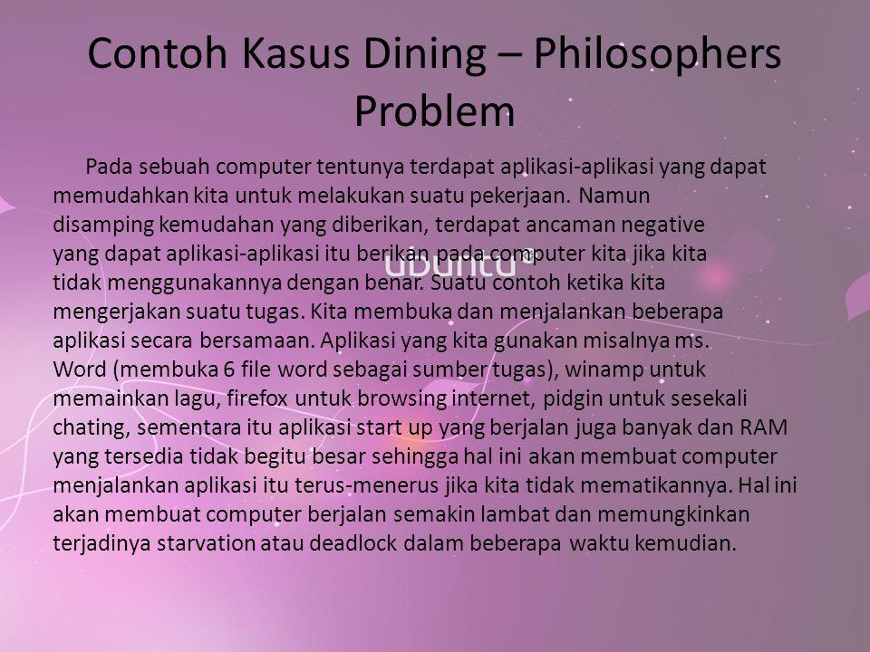 Contoh Kasus Dining – Philosophers Problem