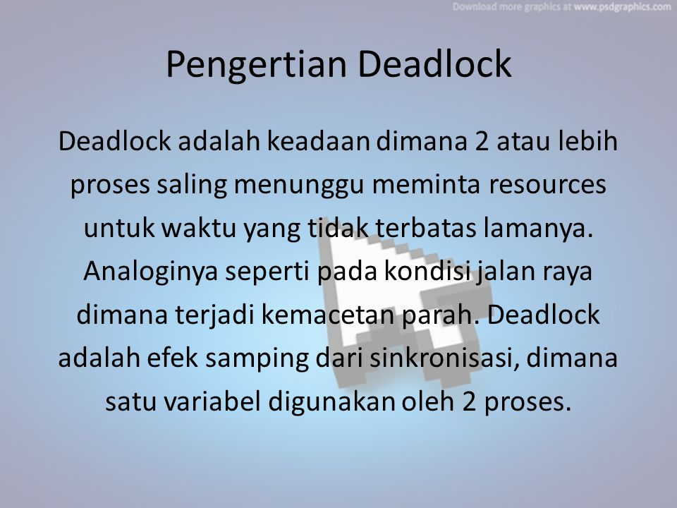 Pengertian Deadlock