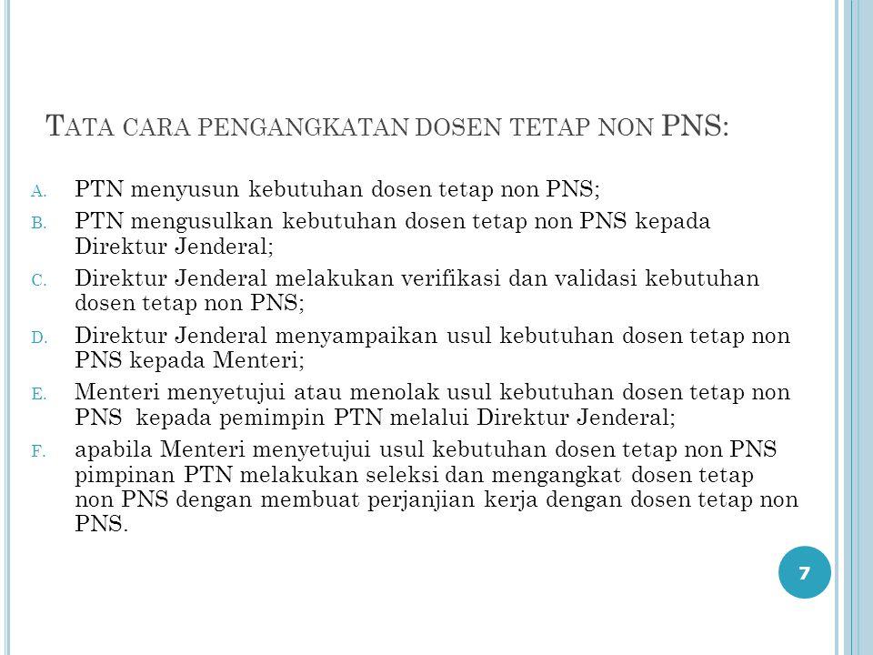 Tata cara pengangkatan dosen tetap non PNS: