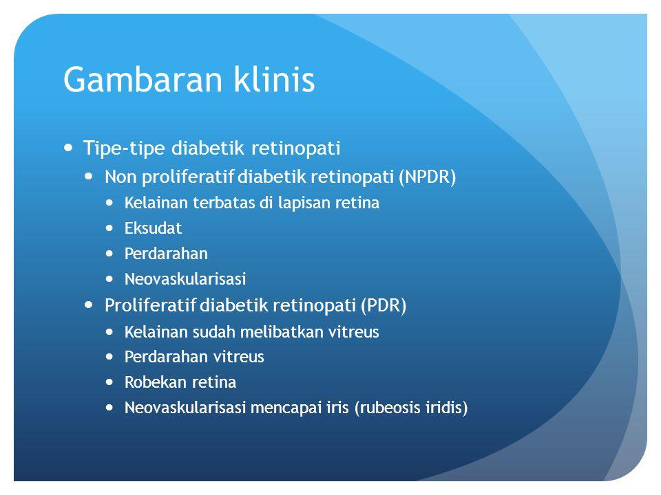 Gambaran klinis Tipe-tipe diabetik retinopati