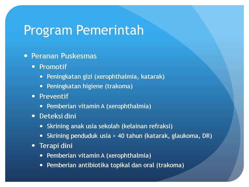 Program Pemerintah Peranan Puskesmas Promotif Preventif Deteksi dini