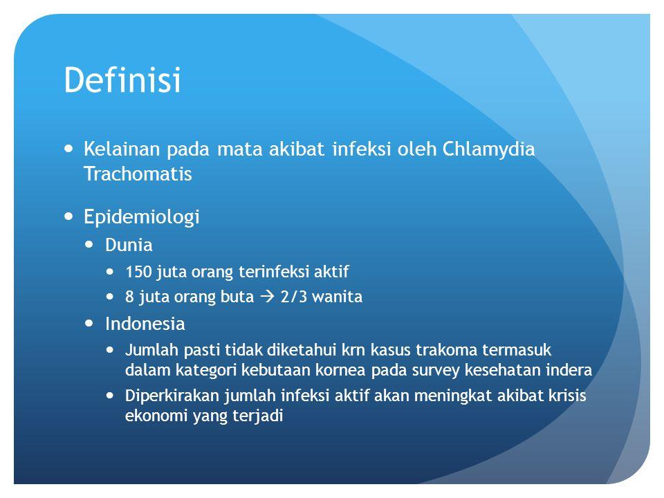 Definisi Kelainan pada mata akibat infeksi oleh Chlamydia Trachomatis