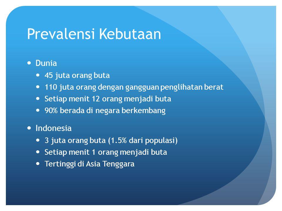Prevalensi Kebutaan Dunia Indonesia 45 juta orang buta