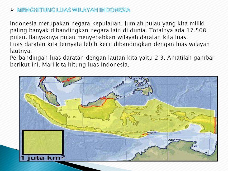 MENGHITUNG LUAS WILAYAH INDONESIA