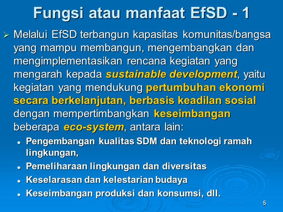 Fungsi atau manfaat EfSD - 1