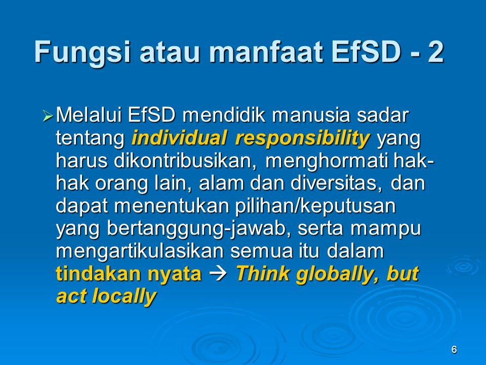Fungsi atau manfaat EfSD - 2