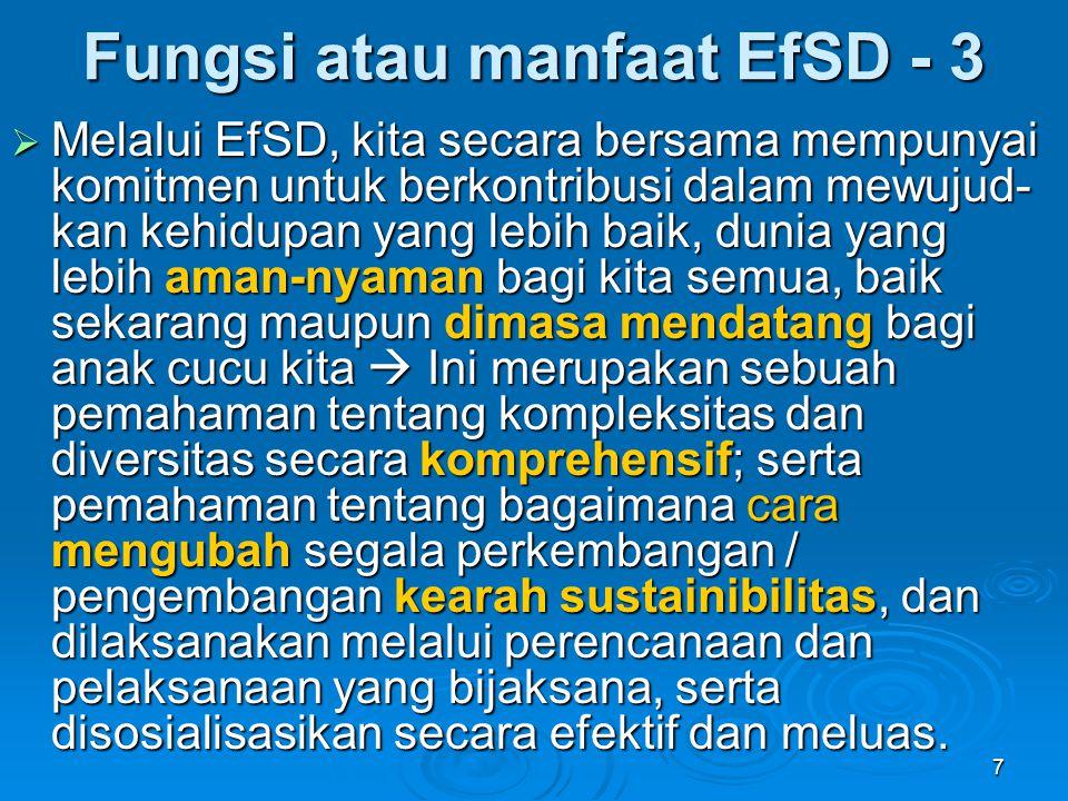 Fungsi atau manfaat EfSD - 3