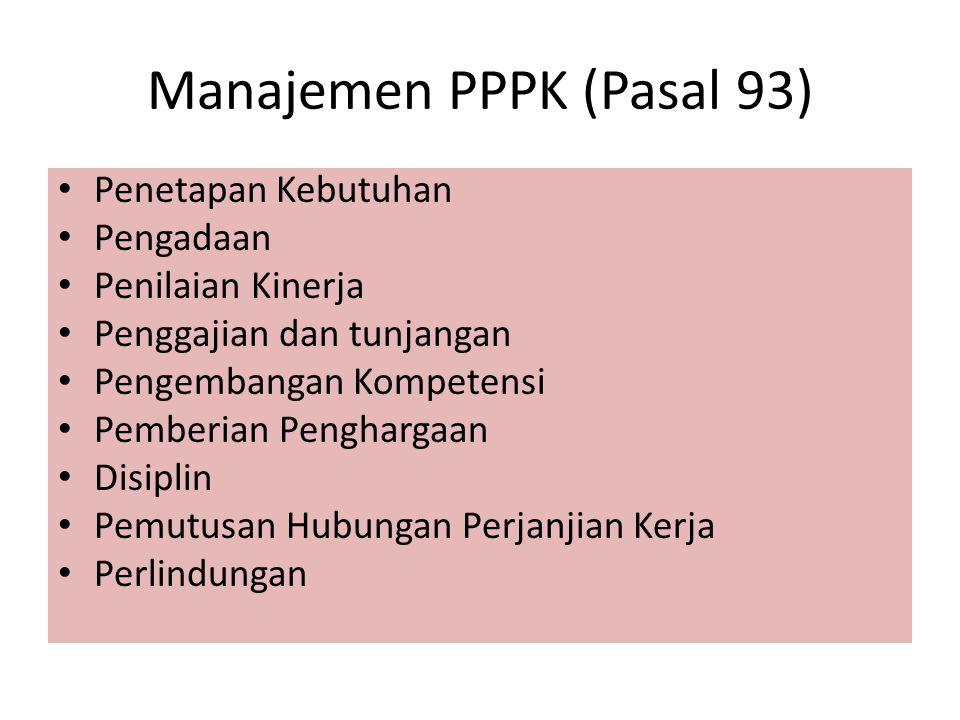 Manajemen PPPK (Pasal 93)