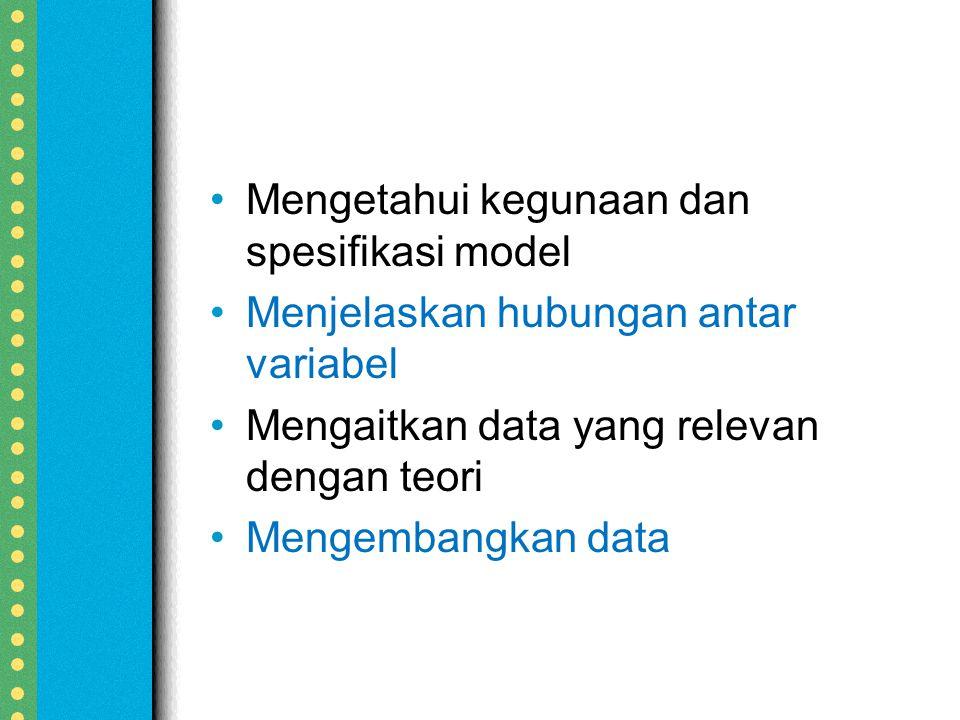 Mengetahui kegunaan dan spesifikasi model