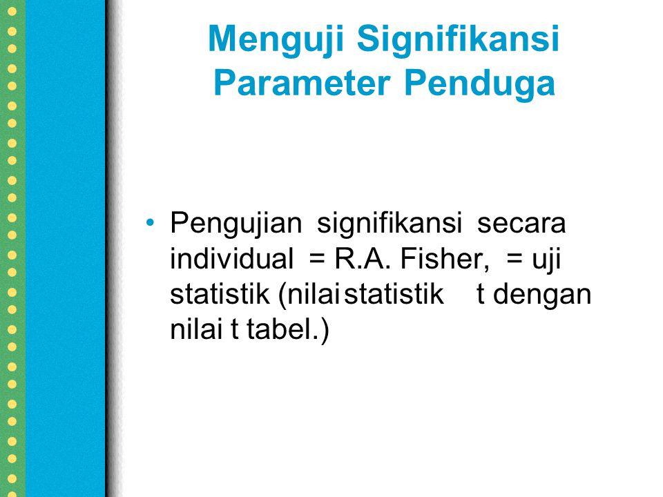 Menguji Signifikansi Parameter Penduga