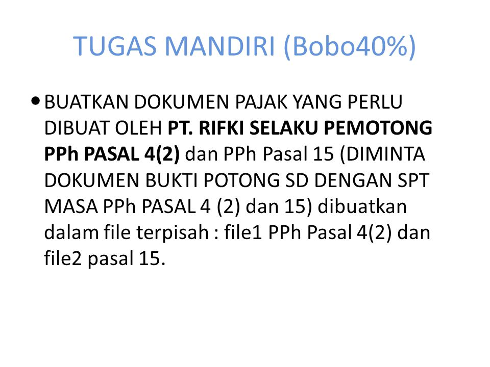 TUGAS MANDIRI (Bobo40%)