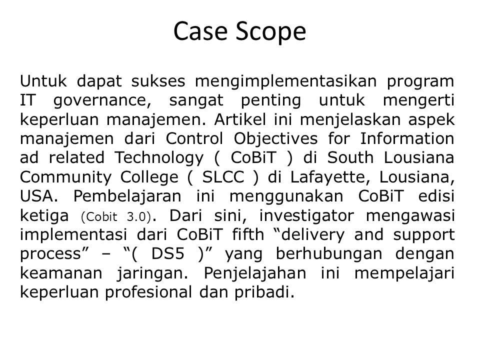 Case Scope