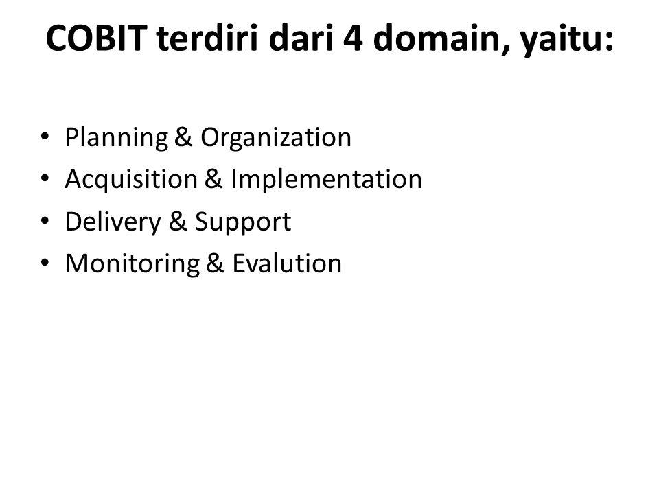 COBIT terdiri dari 4 domain, yaitu: