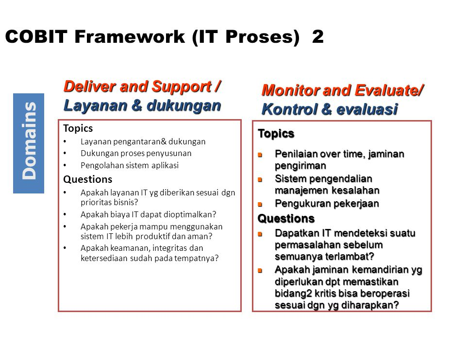 COBIT Framework (IT Proses) 2